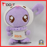 OEM Logo Embroidery Doll Plush Stuffed Doll para Promoção Gift