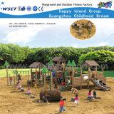 子供の遊園地の木の運動場装置(HF-10001)