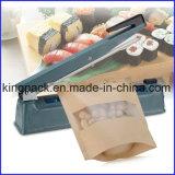 Máquina semiautomática da selagem de impulso da mão do aferidor do calor do saco de plástico/máquina selagem do saco de plástico