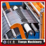 Metallstahlblech-aufschlitzende Maschine mit Decoiler Recoiler dem Stahlring, der Zeile aufschlitzt