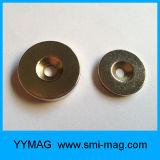 Magneti dell'anello svasati neodimio rivestito di NdFeB del nichel forti