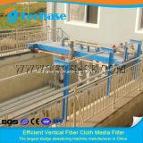 Verticial rotativo tipo de filtración de disco de fibra