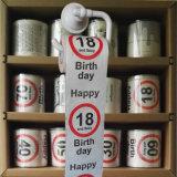 los trapos del tocador del cumpleaños 18yr imprimieron el tejido de cuarto de baño divertido del papel higiénico