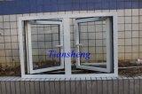 Puder-überzogene weiße Farben-Aluminiumflügelfenster-Fenster für Handels- und Wohn