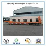 반 80 톤 세 배 차축 판매를 위한 확장 가능한 낮은 침대 트레일러