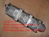 Bomba de engrenagem genuína 34180 da bomba 705-55-34180 Hydrauic de Japão para o carregador Wa350-3. Wa380-3