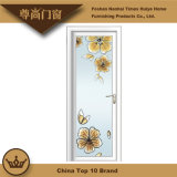 Rosen-Gold und weiße Aluminiumprofil-Flügelfenster-Tür für Wohnzimmer-Dekoration