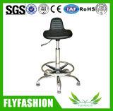 Cadeira de laboratório ergonômico ajustável ajustável com anel de pé