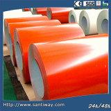0.35*914mm Prepainted гальванизированная стальная катушка для толя металла