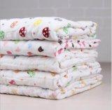 100%年の綿の綿モスリンの赤ん坊タオル