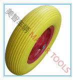 4.80/4.00-8 increvables jaune roue en mousse PU
