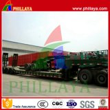 Heavy Duty Lowbed Wheeled Machince Transporter Trailer