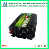Maison outre d'inverseur d'alimentation AC de C.C du système solaire 500W de réseau avec le chargeur (QW-M500UPS)