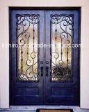 高品質のヨーロッパ式の錬鉄の複式記入のドア