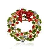 De nieuwe Broches van het Bergkristal van Kerstmis van de Aankomst voor de boog-Knoop van de Stijl van Vrouwen de Leuke Veelkleurige Spelden van de Broche van de Kroon voor de Juwelen van de Manier van Meisjes