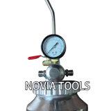 2 Pot van Partable van het Kanon van de Verf van de Nevel van de Verf van de Druk van de Lucht van de liter/Kwart gallon de Draagbare/Latex van de Slang van de Maat van de Tank Dubbel 2 Qt PT-2K