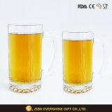 1L rimuovono il vetro di birra stabilito della cristalleria di marchio con la maniglia