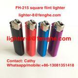 Venta al por mayor cuadrada disponible Fh-215 del uso del cigarrillo del alumbrador de gas del pedernal