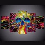 [هد] طبع 5 [بيس كنفس] فنية جمجمة زاويّة هيكليّة تجريديّ صورة زيتيّة جدار [أرت كنفس] [أبسترك]