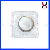 Boutons magnétiques cachés en PVC lavable D12*2mm