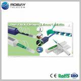 Ein Klicken-Reinigungsmittel/aus optischen Fasernreinigungsmittel 2.5/1.25mm