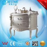 Het stevige Houten meubilair van de Ijdelheid van de Badkamers van de Vloer Bevindende van China door-F8012