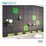 Flamme Retartant fibre polyester intérieur absorbant le son en 3D décoratifs panneau mural pour le fond