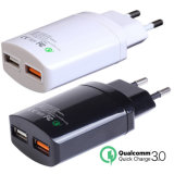 Carregador rápido duplo universal do curso QC3.0 do USB 5V2.4A+Qualcomm da porta