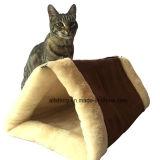 고양이 애완 동물 침대 갱도 양털 관 개 강아지 새끼 고양이 공동 자금 개집 크레이트 감금소 Shack 집을%s 실내 방석 매트 피라미드 패드2 에서 1