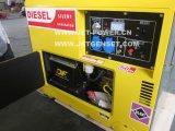 세륨은 3kw 4kw 5kw 6kw 7kw 공기에 의하여 냉각된 디젤 엔진 침묵하는 휴대용 발전기를 승인한다