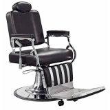 Herrenfriseur-Stuhl mit Edelstahl-Armlehnen-und Aluminium-Pedal
