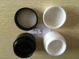 Vendita calda personalizzata intorno al vaso crema vuoto della plastica del vaso di 3ml 5ml 10ml PS di pelle del vaso cosmetico vuoto di plastica colonnare di cura