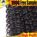 Type de mode du cheveu 9A bouclé brésilien de 100%