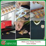 Film imprimable de transfert thermique de couleur foncée de Qingyi pour l'usure de sport