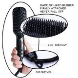 Personalizada automática cepillo de pelo Plancha planchas alisadoras eléctrica directamente el peine de vapor