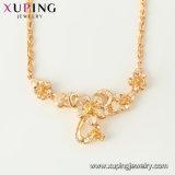 44458 de Levering voor doorverkoop Xuping ontwerpt goed de Exotische 18K Goud Geplateerde Lange Vormen van de Juwelen van de Halsband van de Tegenhanger voor Verkoop