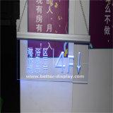 LED acrilico che fa pubblicità alla scheda chiara