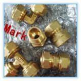 Guarnición del tornillo de cobre amarillo de la compresión para el tubo