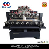 Haute qualité 3aixs CNC/4routeur de bois de l'axe (H2515-8VCT-TM)