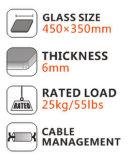 DVD 플레이어 케이블 상자 또는 게임 Consoles/TV 부속품을%s 강화된 강화 유리를 가진 뜨 선반