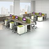 オフィスワークステーション6人のオフィスのキュービクルワークステーションを開きなさい