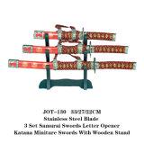 Mestieri giapponesi Jot-130 delle spade di Katana del samurai apri di lettera