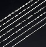 Commerce de gros 925 Sterling Silver Necklace chaîne