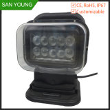 Поиск автомобиля лампа 60 Вт Светодиодные поиск лампа для охоты 12V 24V прожектор