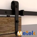 Porte de grange en acier inoxydable Matériel système de rails coulissants