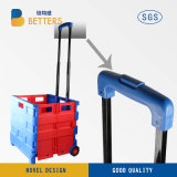 Qualitäts-doppelte Farben-Plastikeinkaufen-Laufkatze-Karre