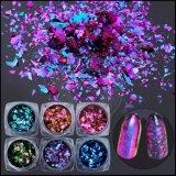 Papel de cristales rotos Nail Art polvo de hojuelas de camaleón lentejuelas Decoración