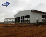 Het lichte die Huis /Chicken van het Landbouwbedrijf van het Gevogelte van de Structuur van het Staal in de Landen van Afrika wordt afgeworpen