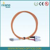 Cavo di fibra ottica duplex Patchcord dello LC-Sc FTTH di MP con la lunghezza su ordinazione