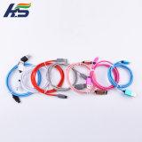 De nylon de alta calidad y el teléfono móvil de carga micro USB Cable de teléfono de Samsung